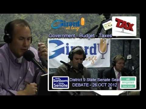 Girard at Large Senate District 9 Debate between Andy Sanborn and Lee Nyquist at GAL Studios