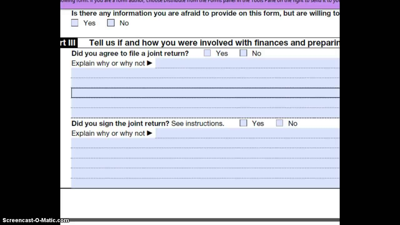 Innocent spouse relief form youtube innocent spouse relief form falaconquin