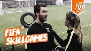 FIFA SKILL GAMES IN REAL LIFE ft FC ROELIE VS. MASCHA!