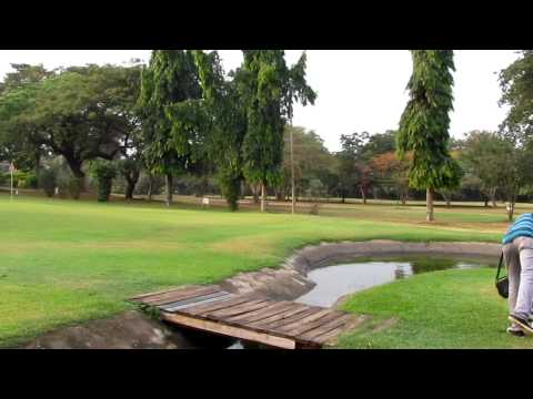 Playing The 18th At Achimota Golf Club [HD] - Accra, February 2012
