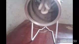 luminaria feita de lata