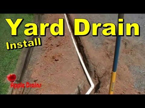 French Drain Rainwater Drainage