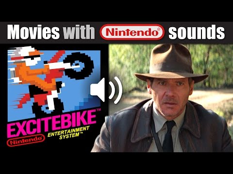 Indiana Jones with EXCITEBIKE Nintendo sounds!