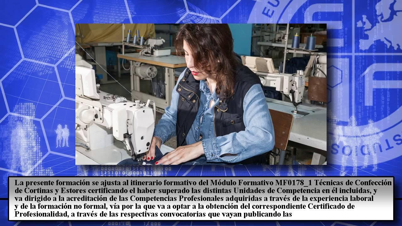 Mf0178 1 t cnicas de confecci n de cortinas y estores - Confeccion de estores ...