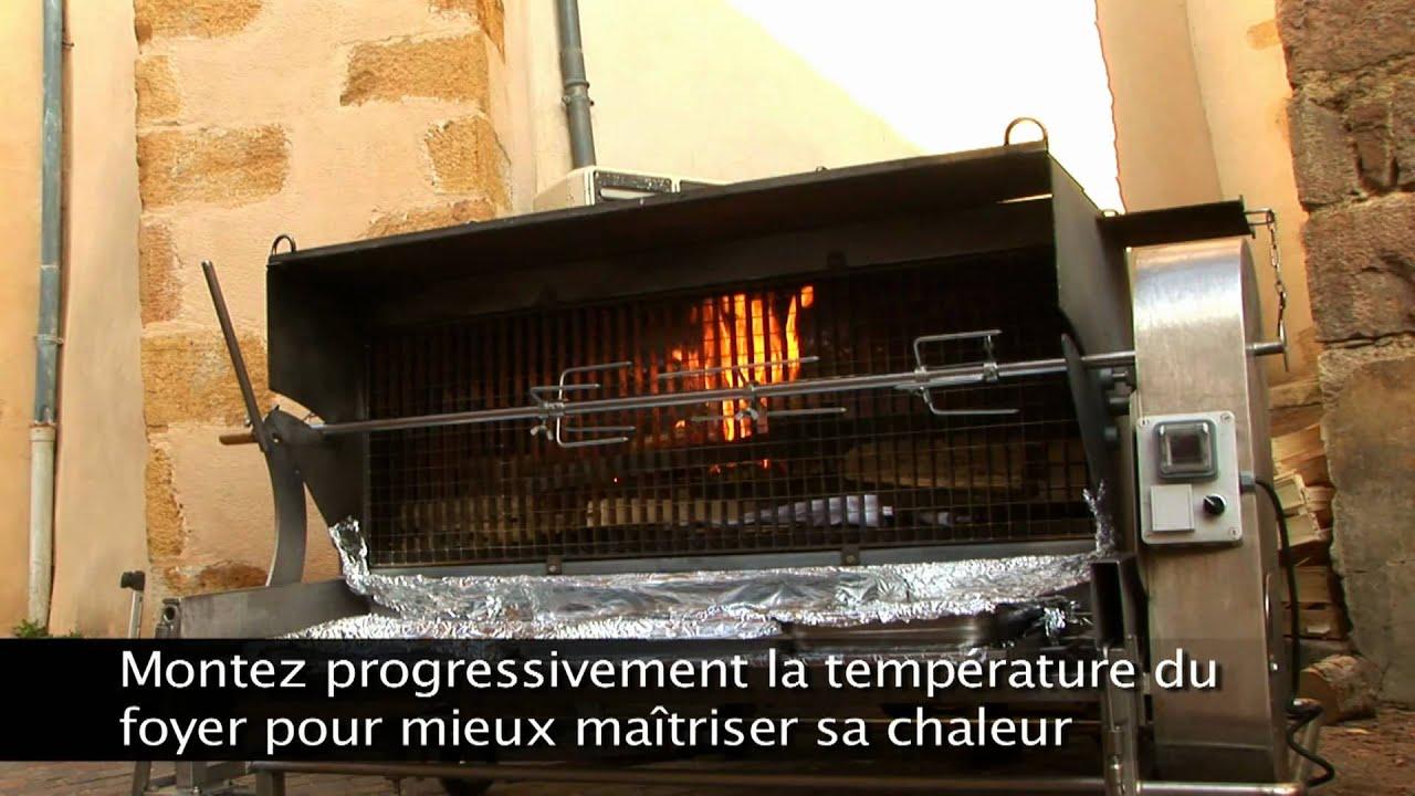 RG feu de bois  Allumage du Rôtissoire Grill  YouTube ~ Rotissoire Au Feu De Bois