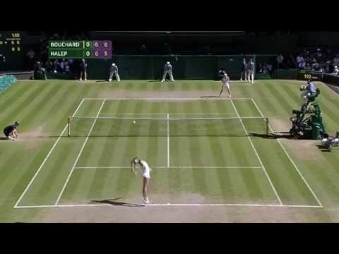 Bouchard takes the first set - Wimbledon 2014