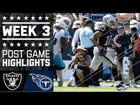 Raiders vs. Titans | NFL Week 3 Game Highlights