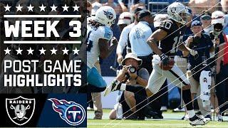 Raiders vs. Titans   NFL Week 3 Game Highlights