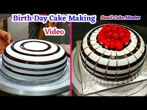 How To Make Birth Day Cake Making By Sunil Cake Master fancy cake counter cake Painepale cake