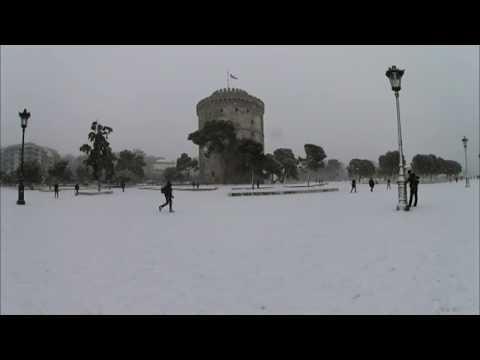 Snowed Thessaloniki In 360 Degree Panoramas