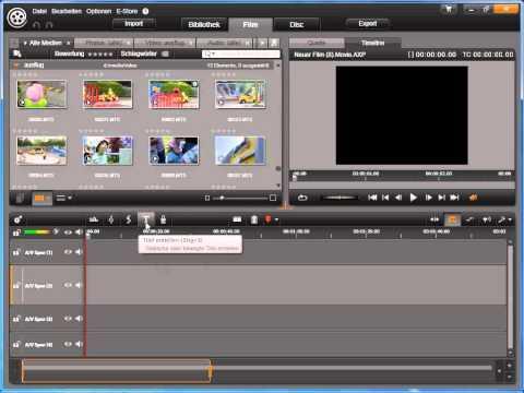 Übersicht Film in Avid studio und Pinnacle Studio