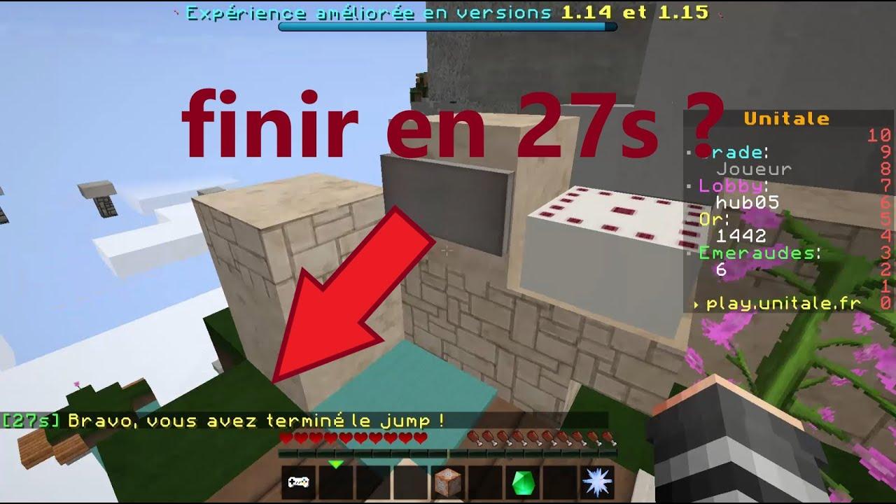 Finir le jump d'unitale en 27 secondes ?! | Minecraft ...