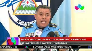 Policía Nacional garantiza seguridad y protección de las familias y la paz en Nicaragua