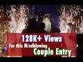 Top Walima Wedding Events, Top Pakistani Weddings, Couple Entry with Cold Fire,