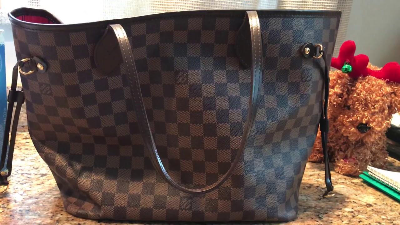 d0cf2795ea9a How to Spot Authentic Louis Vuitton Damier Ebene Neverfull MM Bag ...