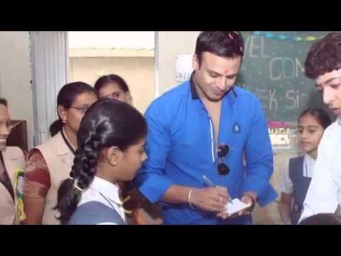 Vivek Oberoi's Visit to New Sunrise School - Vadodara