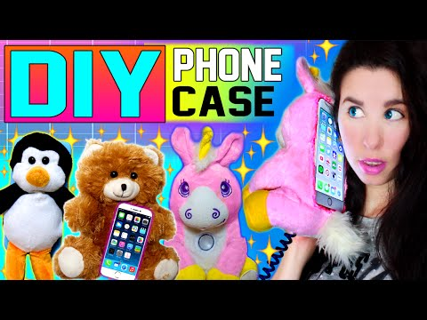 DIY Stuffed Animal Phone Cases! | Make A Plushie Into An iPhone Case! | Cuddle Your Phone Case!