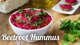 BEETROOT HUMMUS recipe. Lovely Vegetarian