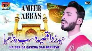Haider Da Qaseda Sab Parheya   Ameer Abbas Ali   TP Manqabat