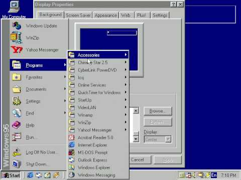 Windows 95 looking like Windows 98