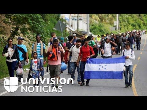 Una nueva caravana de migrantes hondureños se dirige a Estados Unidos en busca de asilo