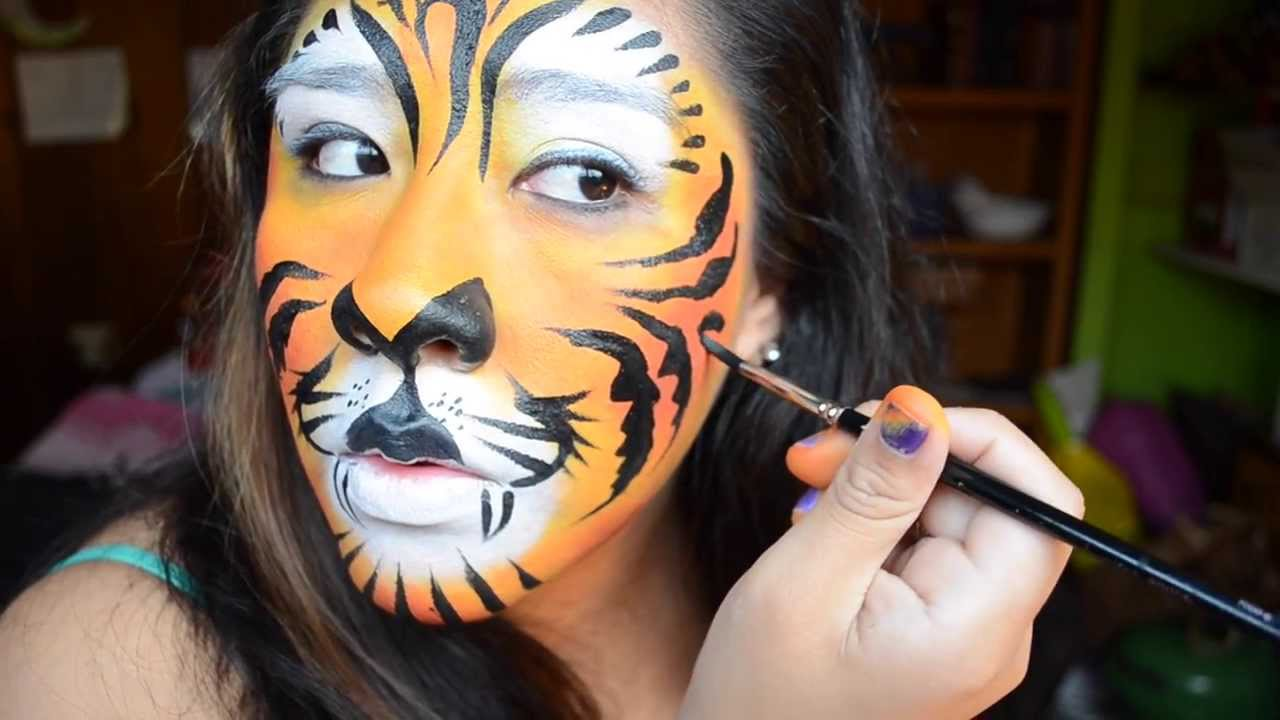 Easy Tiger Face Painting Tutorial