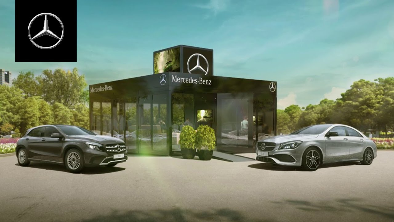 Mercedes benz pop up store youtube for Mercedes benz store
