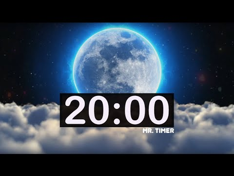 20 Minute Timer With Relaxing Music! Calm Music For Peace, Meditation, Sleep For Kids!