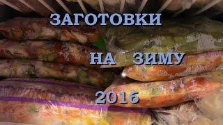 ВЛОГ 10.08.16/Заготовки на зиму/Заморозка овощей/Сок на зиму