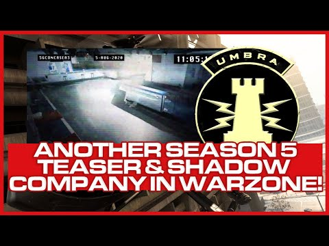 Season 5 Teaser Video from TeePee & Confirmation of Shadow Company in Warzone!