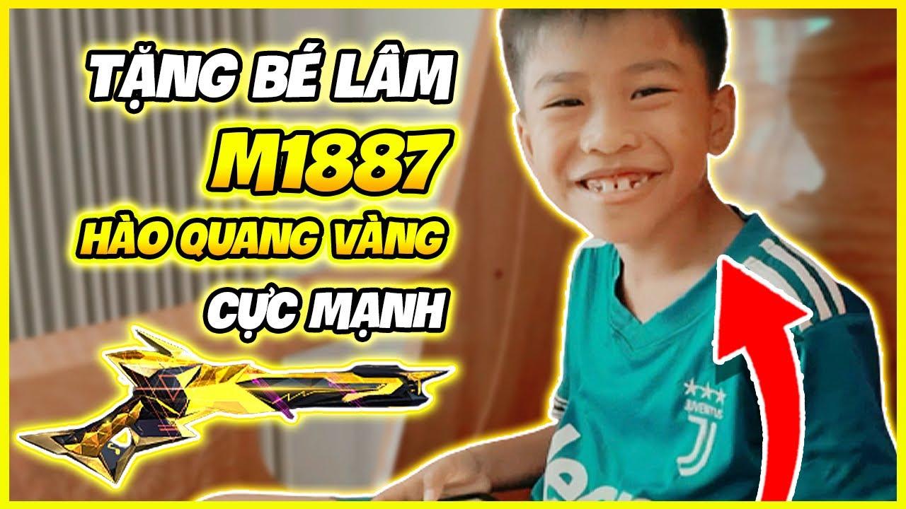 """[ FreeFire ] - Tặng Bé Lâm M1887 Hào Quang Vàng """" Khi Bé Lâm Test Nhân Phẩm """" !!!"""