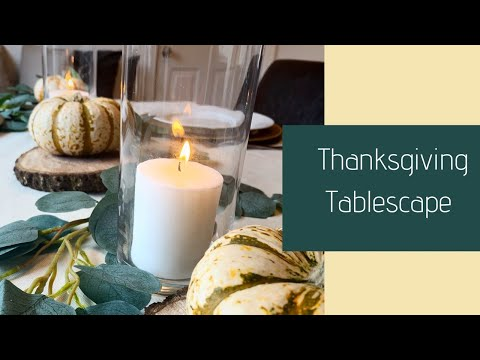 Thanksgiving Tablescape  Cheap Neutral Table Decor Ideas for the Fall and Thanksgiving Season