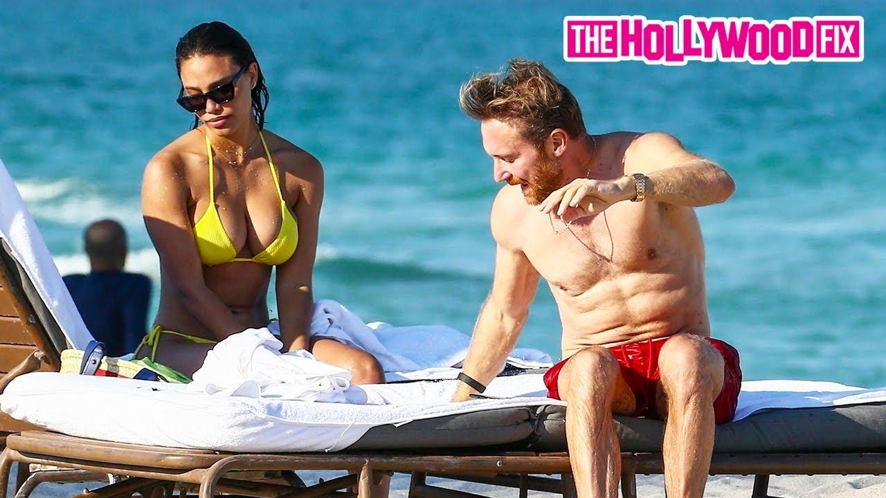 David Guetta & Jessica Labon Enjoy A Romantic Afternoon Beach Date In Miami, Florida 5.26.21