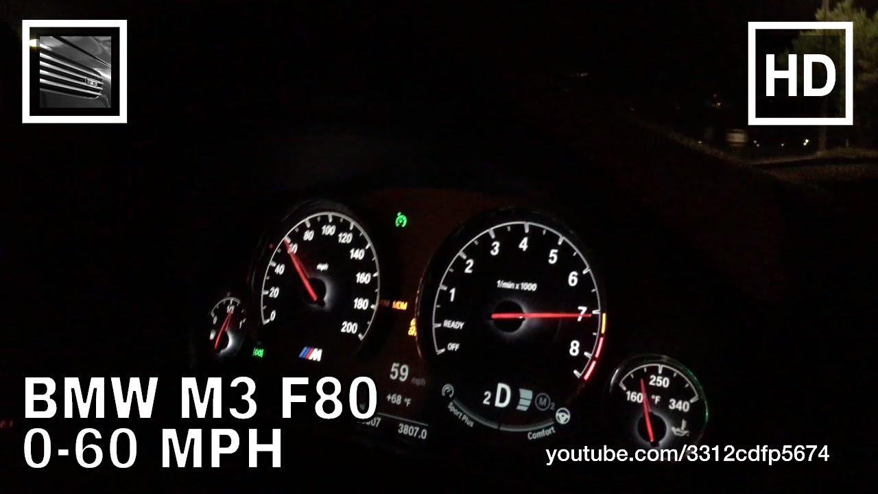 BMW M3 F80 0-60 MPH - YouTube