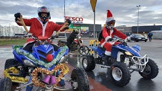ATV CHRISTMAS | STREET RIDE SANTA CLAUS