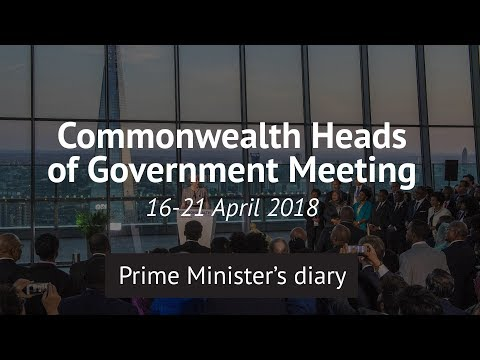PM Theresa May's week at Commonwealth Heads of Government Meeting 2018