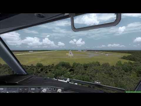 Cockpit 737-900ER landing at Guam Air Base [FSX]