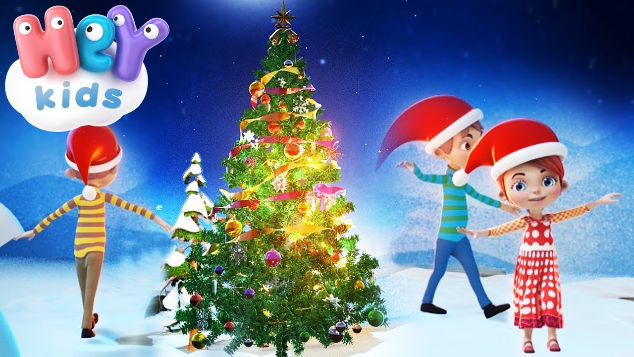O Christmas Tree Song For Kids Christmas Carols For Children Heykids Youtube
