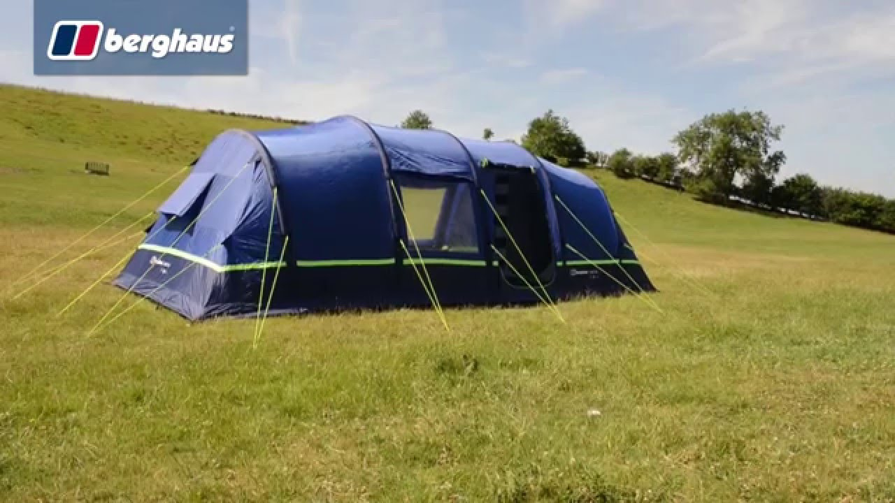 The Berghaus Air 8 Family Tent & The Berghaus Air 8 Family Tent - YouTube