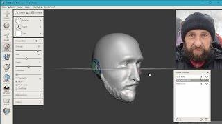 Faceworx + MeshMixer = 3d модель по фото