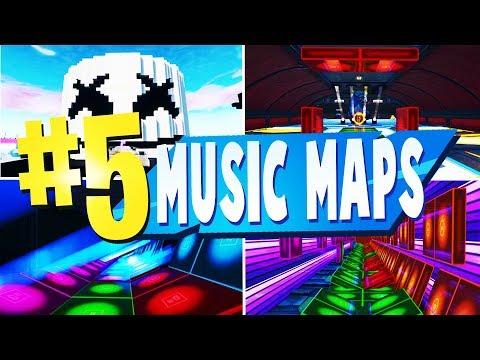 TOP 5 Best MUSIC BLOCK Creative Maps In Fortnite   Fortnite Music Map CODES