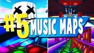 TOP 5 Best MUSIC BLOCK Creative Maps In Fortnite | Fortnite Music Map CODES