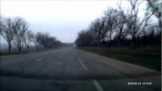 Traseul Chisinau -  Anenii Noi 24.02.2013