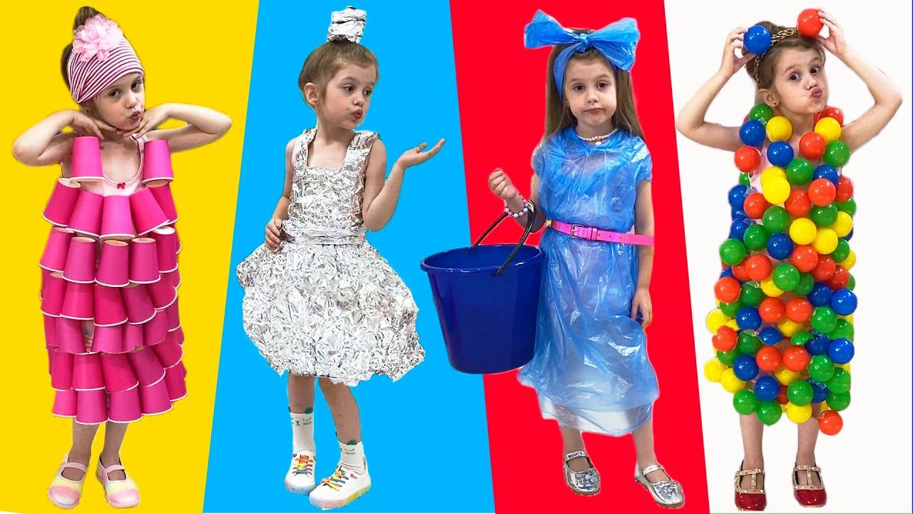 Ева с папой делают новые платья