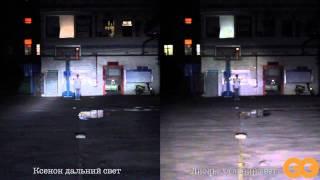 Тест светодиодных LED ламп головного света Booster(, 2014-10-16T09:28:24.000Z)