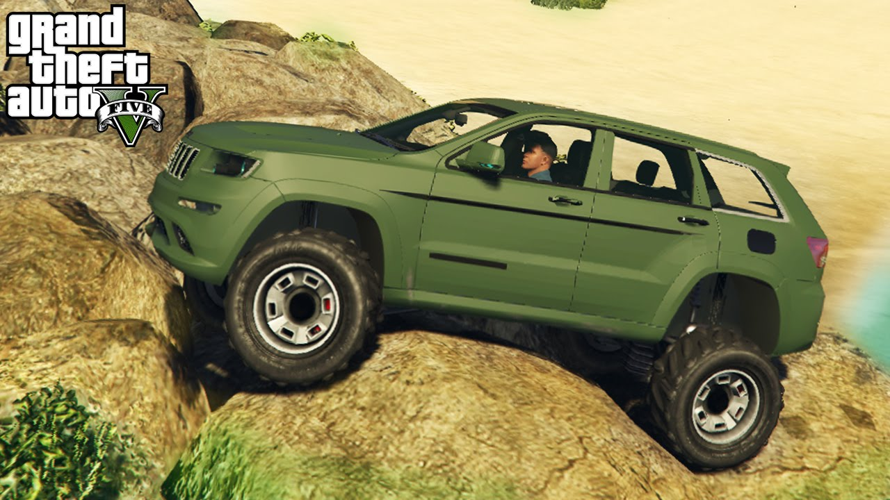 gta 5 epic jeep grand cherokee mod 4x4 off roading mudding mod showcase gta v pc mods. Black Bedroom Furniture Sets. Home Design Ideas