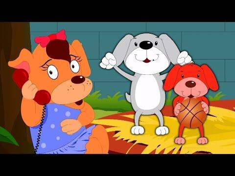 Cinq petits chiots | Enfants et rime bébé | Five Little Puppies Song | Nursery Rhyme & Kids Songs
