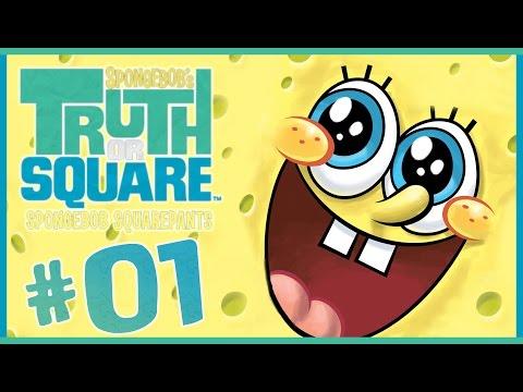 SpongeBob Truth or Square Walkthrough Part 1 (Wii, X360, PSP) ~~ Level 1 ~~