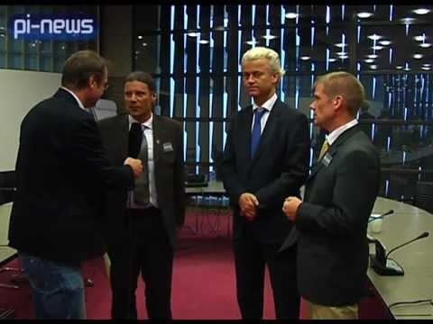 Interview Geert Wilders, Oskar Freysinger & Christian Jung in Den Haag
