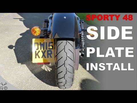 HOW TO: Side Plate Install | Harley Sportster 48 - YouTube